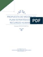 Plan de Mejora Gestion de Recursos Humanos
