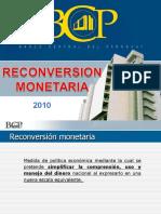 _reconversión monetaria nuevo guarani