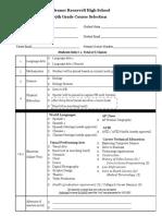 8th grade course selection 2018-19