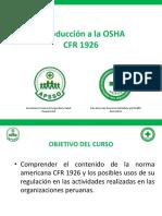 Introducción OSHA CFR 1926