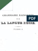 Grammaire Raisonnee de La Langue Russe-1828