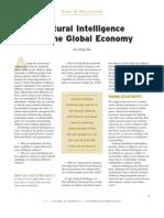 Cultural Intelligence en Global Economy