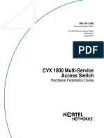 CVX-1800 Multi-Service Access Switch Hardware Installation Guide