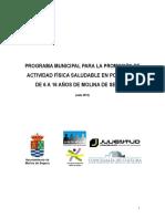 Programa Municipal de Promoción de Actividad Física Saludable de 6 a 16 años