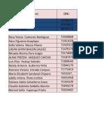 Base de Datos Postulantes Apoyo