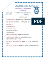 Informe 1- Química (Laboratorio)