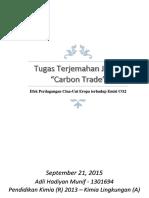 Efek Perdagangan Cina-Uni Eropa Terhadap Emisi CO2