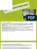 Regimen Mype Tributarrio