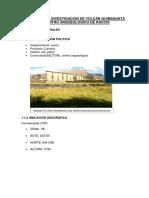 Estudio de Investigacion de Volcan Quimsahata Centro Arqueológico de Racchi