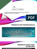 Tipos de Presentaciones / ¿Como hacer una Presentación?