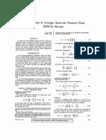 Reservoir Calculation