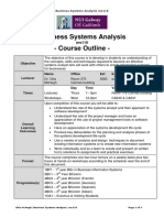 MS110 Business Systems Analysis Course Outline 2011 12