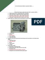 Bahan Bakar Pada Motor Diesel Dimasukan Kedalam Ruang Bakar Melalu