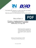 Modelo de Relatório de Projeto