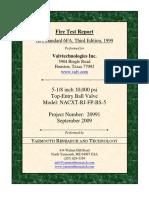 Fire Test Rept API 6FA 3rd Ed 5.125in 10k Psi Trunnion