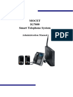 MOCET IG7600 Admin Manual V0.1.14b