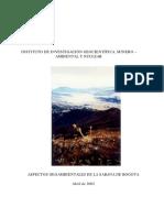 Aspectos Geoambientales Sábana de Bogotá