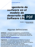 Ingenieria de Software en El Modelo de Desarrollo Del Software Libre