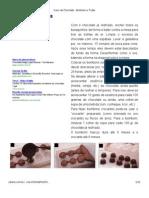 Curso de Chocolate - Bombons e Trufas