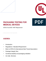 UL Webinar - Packaging Testing for Medical Devices