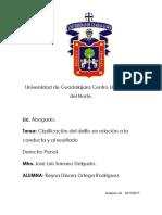 Clasificación Del Delito en Relación a La Conducta y Al Resultado