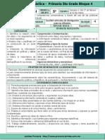 Plan 5to Grado - Bloque 4 Español (2016-2017).doc