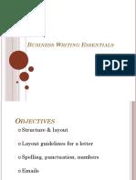 Business Writing Essentials Generic