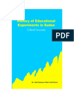 History of Educational Experiments in Sudan a Brief Account