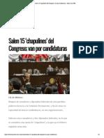 24-01-17 Salen 15 'Chapulines' Del Congreso; Van Por Candidaturas - Hora Cero Web