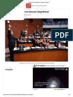 24-01-18 Salen 15 Chapulines Del Congreso; Van Por Candidaturas