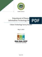 CitizenTechnologySurveyResultsFinal 5-5-2014