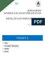 Sosialisasi Sinergi Layanan Jkk Taspen-bpjs-rs