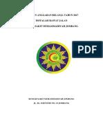 Cover Laporan Anggaran Belanja Irj 2017