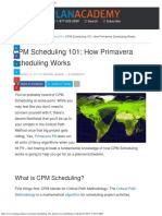 CPM Scheduling 101 How Primavera Scheduling Works
