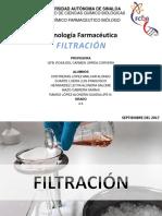 Filtración - Tecnología farmaceutca