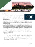 Final Angkor Wat Written Report