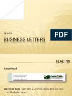 Business Letters Parts-Elements(2)
