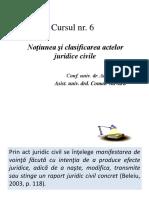 6. Notiunea Si Clasificarea Actelor Juridice Civile