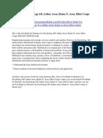 Statistics for Psychology 6/E Arthur Aron, Elaine N. Aron, Elliot Coups Test Bank