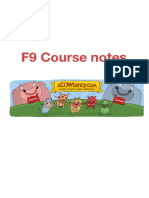 ACCA F9 Course Notes