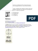 La balanza es un instrumento básico en el laboratorio de Física