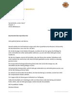 Beschwerde Brief