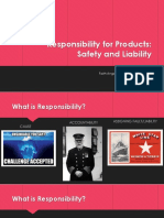 Responsibility for Products