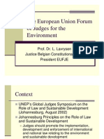 Luc Lavrysen - The European Union Forum of Judges for the Environment
