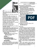 September 1, 2010 The Vistor Newsletter, St. John's Christian Church