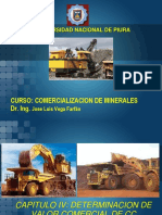 Cap IV y v Determinacion de Valor Comercial de Cc de Minerales