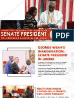 OFFICE OF THE SENATE PRESIDENT NEWSLETTER. FRIDAY, JANUARY 26TH, 2018