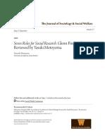 _em_Seven Rules for Social Research.__em_ Glenn Firebaugh. Review