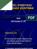 6. Teknik & Strategi Negosiasi Kontrak
