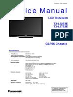 Panasonic TX-l32e3e TX-l37e3e Chassis Glp26